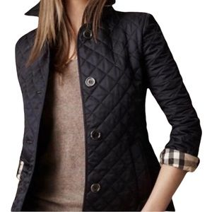 Authentic Black Burberry Jacket coat quilted black